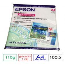 Giấy in màu 1 mặt Epson , định lượng 110g A4