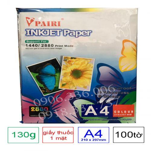 Giấy in màu 1 mặt Pairi , định lượng 130g A4